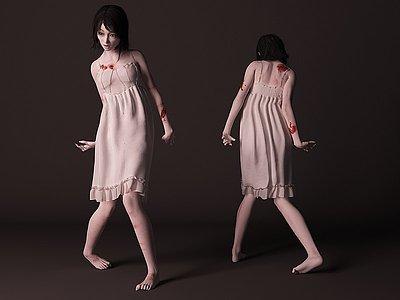 僵尸女人模型3d模型