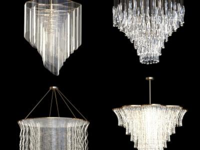 現代水晶吊燈3d模型
