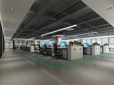 現代辦公區大廳模型3d模型