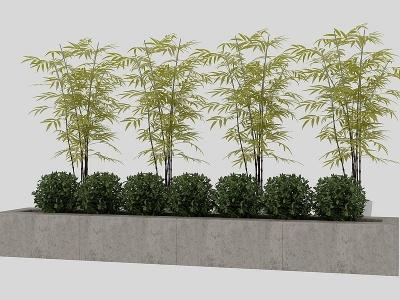 新中式竹子灌木模型3d模型