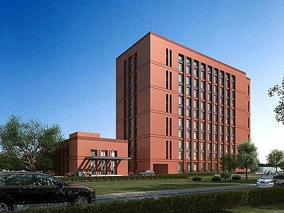 現代學校辦公樓模型3d模型