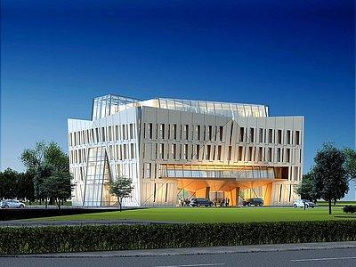 現代辦公綜合樓模型3d模型