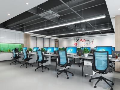 現代辦公區模型3d模型