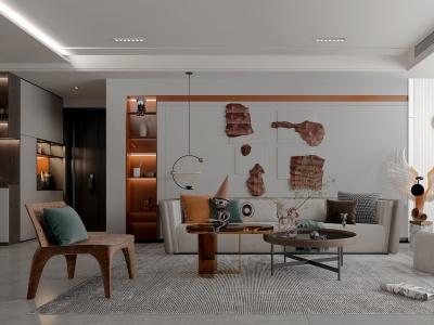 現在風格的客廳模型3d模型