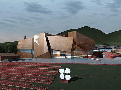 現代博物館歷史展館模型3d模型
