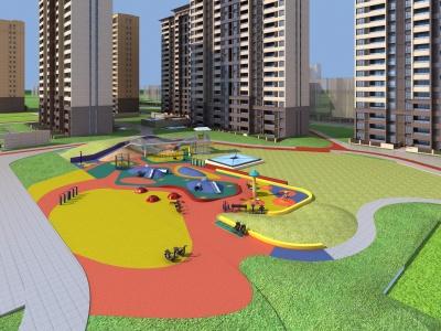 兒童公園模型3d模型