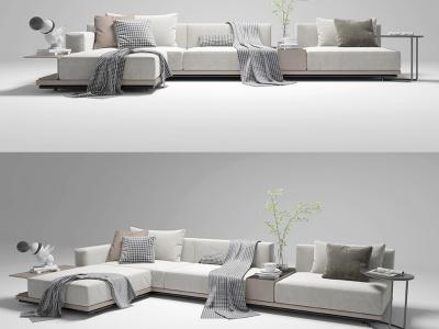 現代風格的沙發茶幾盆栽模型3d模型
