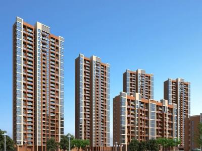 現代住宅高層模型3d模型