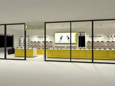 POLO運動鞋店模型3d模型
