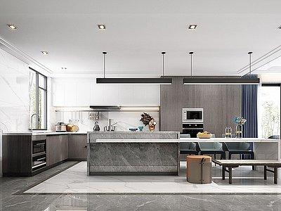 現代廚房模型3d模型