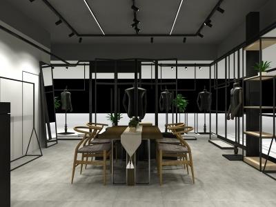 男裝店模型3d模型