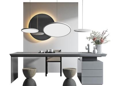 現代茶桌模型3d模型