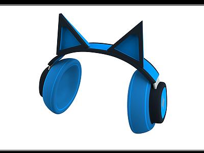 貓耳朵耳機3d模型