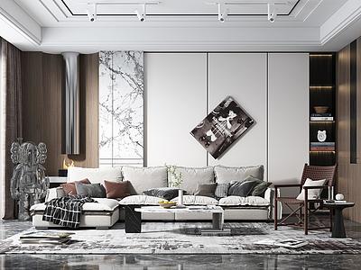 現代家裝客廳模型3d模型