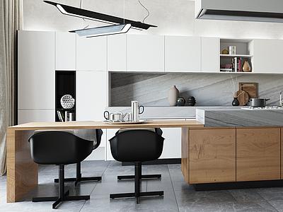 小居室客餐廳模型3d模型
