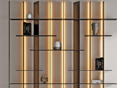 現代裝飾柜裝飾架模型3d模型