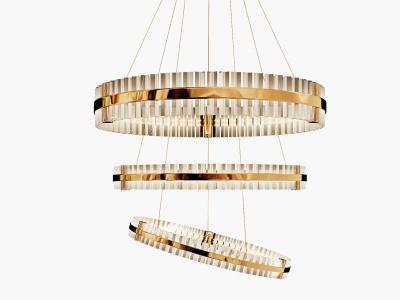 現代水晶吊燈模型3d模型