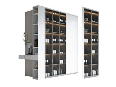 現代直角轉角裝飾柜模型3d模型