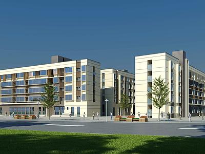 現代宿舍公寓模型3d模型