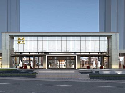 新中式會所售樓處模型3d模型
