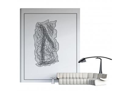 現代異形沙發臺燈背景墻模型3d模型