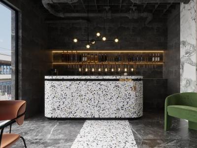 工業風餐廳空間模型3d模型