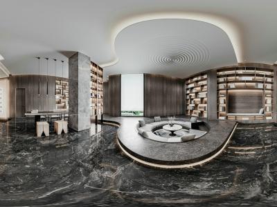 新中式客廳茶室會客室模型3d模型