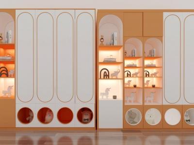 現代衣柜組合3d模型