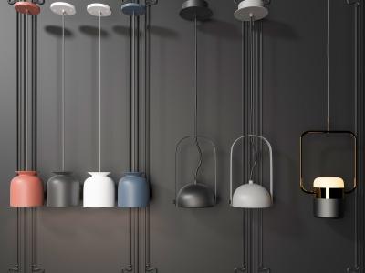 現代吊燈3d模型