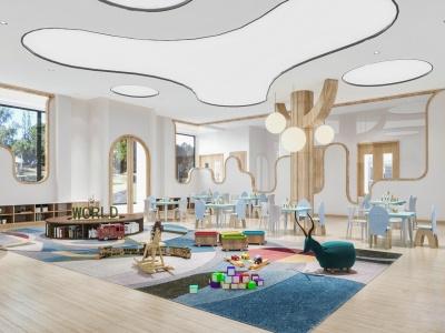 現代兒童娛樂室娛樂空間模型3d模型