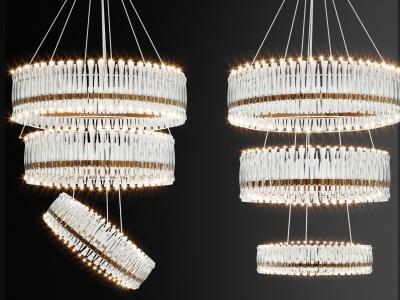 現代水晶燈組合模型3d模型