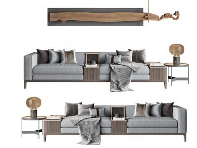 新中式沙發臺燈模型3d模型