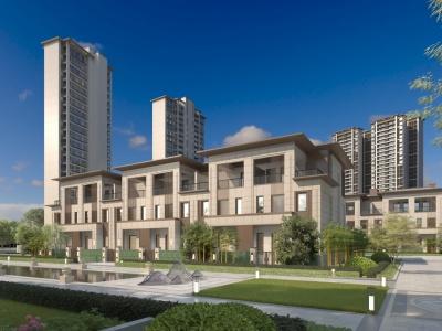新中式,別墅模型3d模型