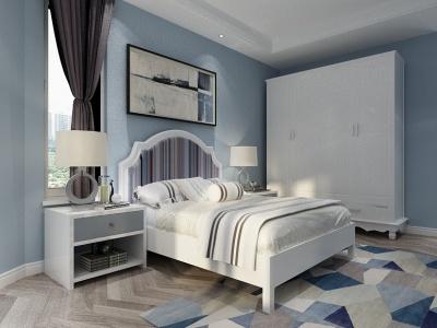 地中海風格臥室3d模型
