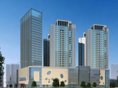 現代商場辦公樓3d模型