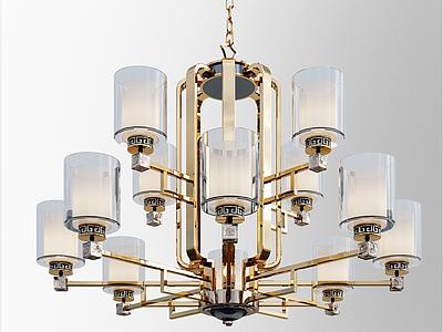 中式吊燈3d模型