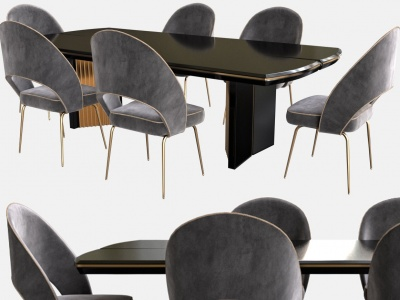 現代輕奢餐桌椅模型3d模型