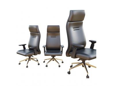 現代辦公室皮革轉椅3d模型