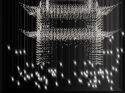 現代大型水晶玻璃吊燈模型3d模型