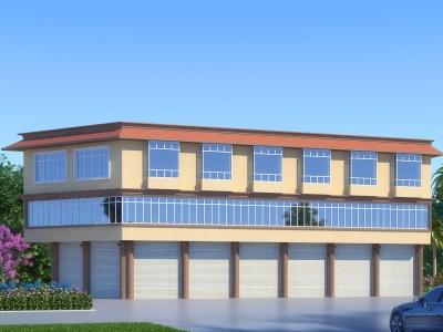 簡歐別墅外觀模型