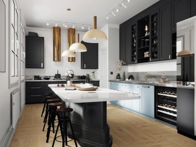 北歐廚房模型3d模型