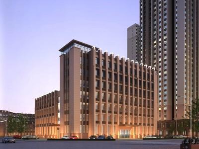 新古典酒店辦公樓模型3d模型