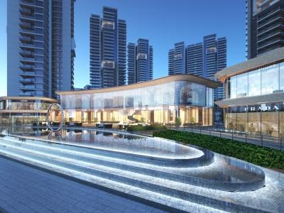 現代住宅售樓部商場模型3d模型
