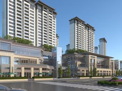 現代住宅商業街模型3d模型