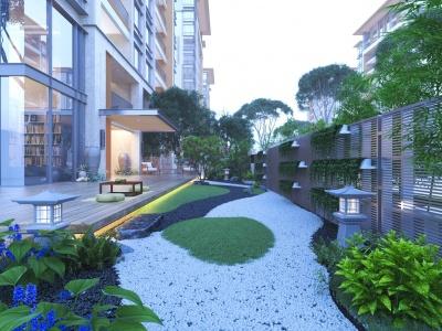 現代,住宅,景觀模型3d模型
