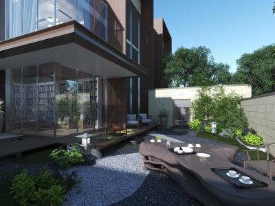 現代別墅景觀模型3d模型