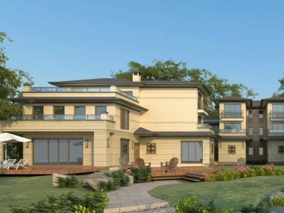 新古典別墅聯排別墅模型3d模型