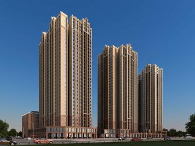 新古典高層住宅商業模型3d模型