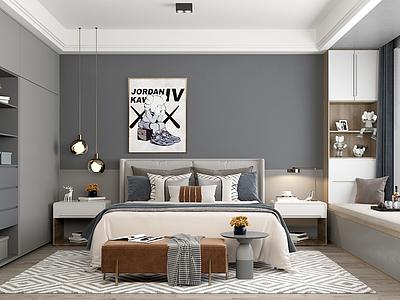 北歐風格的臥室模型3d模型