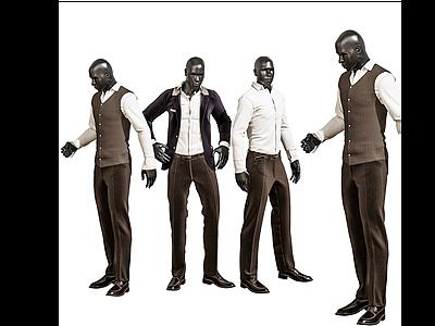 現代人物模特模型3d模型